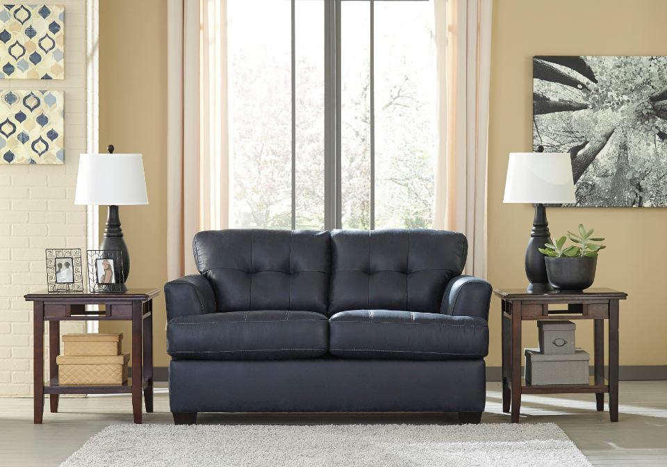 Inmon Navy Sofa Set Evansville Overstock Warehouse