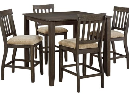 AF-D485-13-124 Dresbar counter height Dining Set With 4 Chairs1