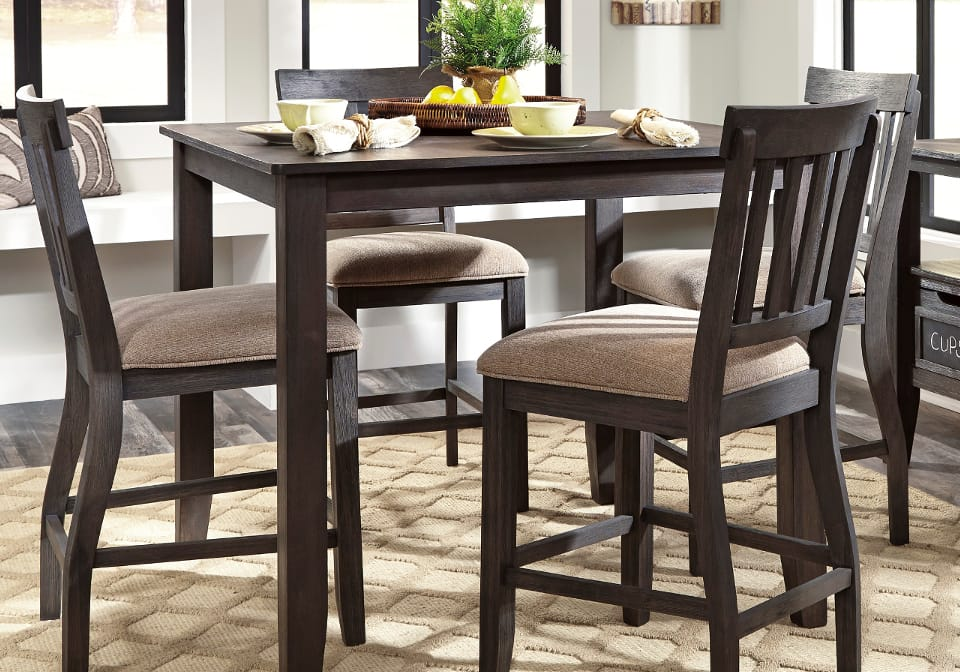High Dining Room Table eldesignrcom : AF D485 13 124 Dresbar counter height Dining Set With 4 Chairs2 1 from eldesignr.com size 960 x 672 jpeg 112kB