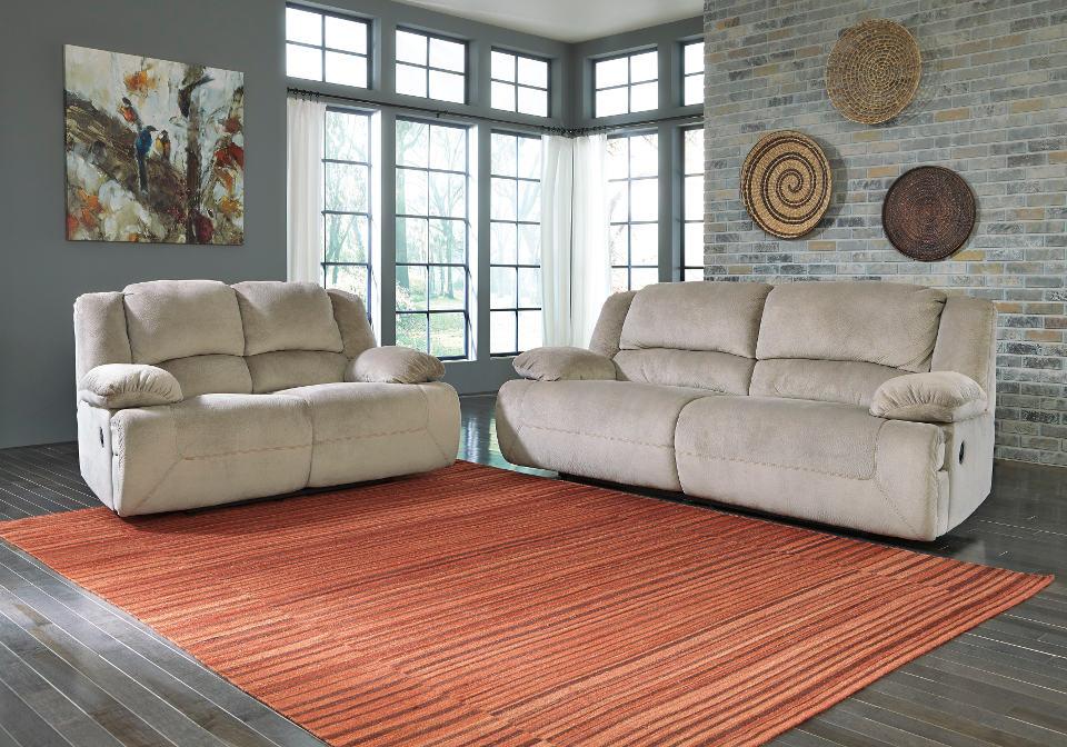 Toletta Granite 2 Seat Reclining Power Sofa Set