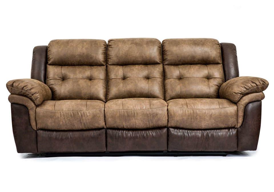 Hudson Bonanza Silt Bonanza Sable Reclining Sofa
