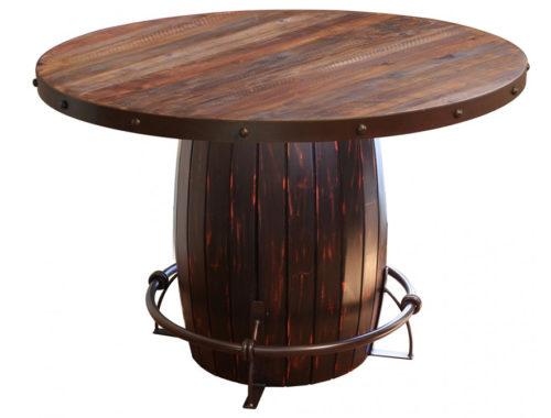 Antique-Round-Barrel-Table