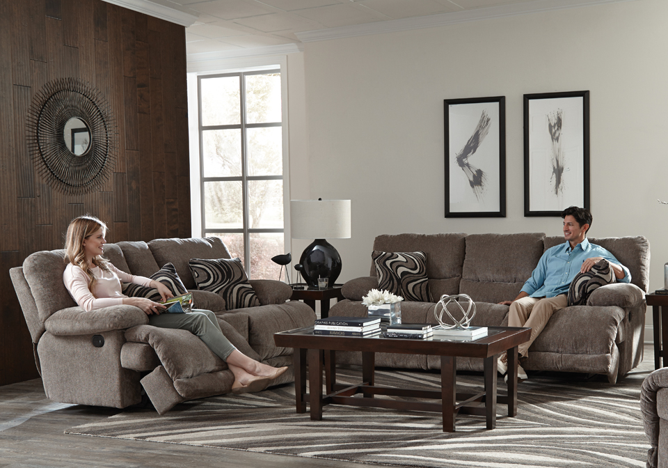 Catnapper Jules Pewter Reclining Sofa Set Evansville