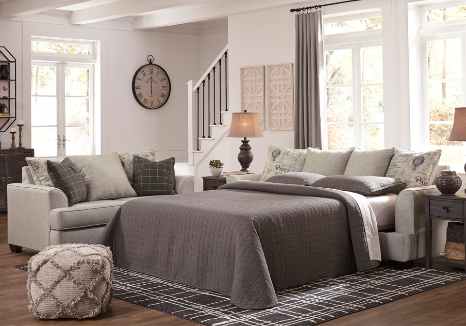 Velletri Pewter Queen Sleeper Sofa