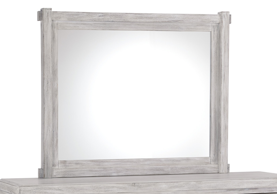 Brashland White Bedroom Mirror Evansville Overstock Warehouse