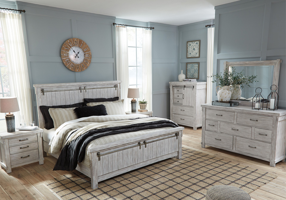 Brashland White King Panel Bedroom Set Evansville