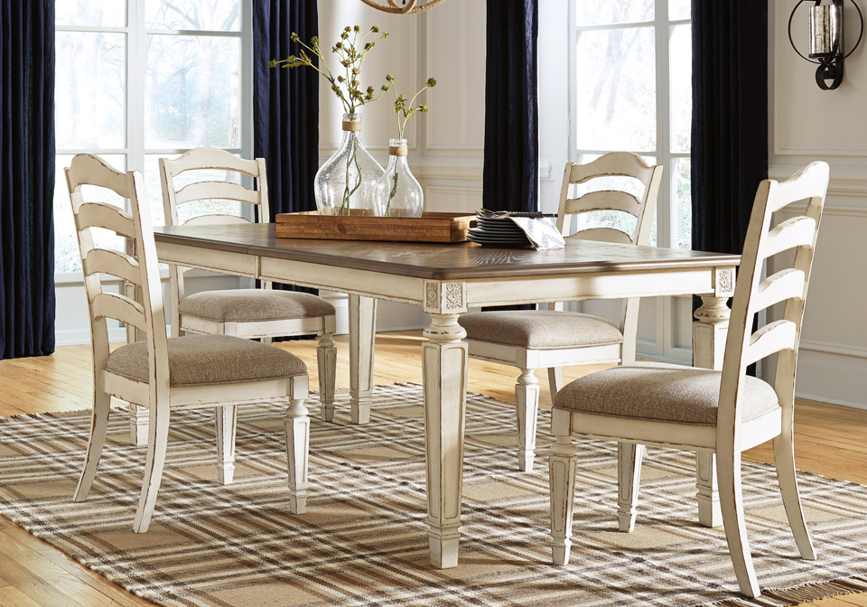Realyn Chipped Oval Dining Table, Oval Dining Room Table