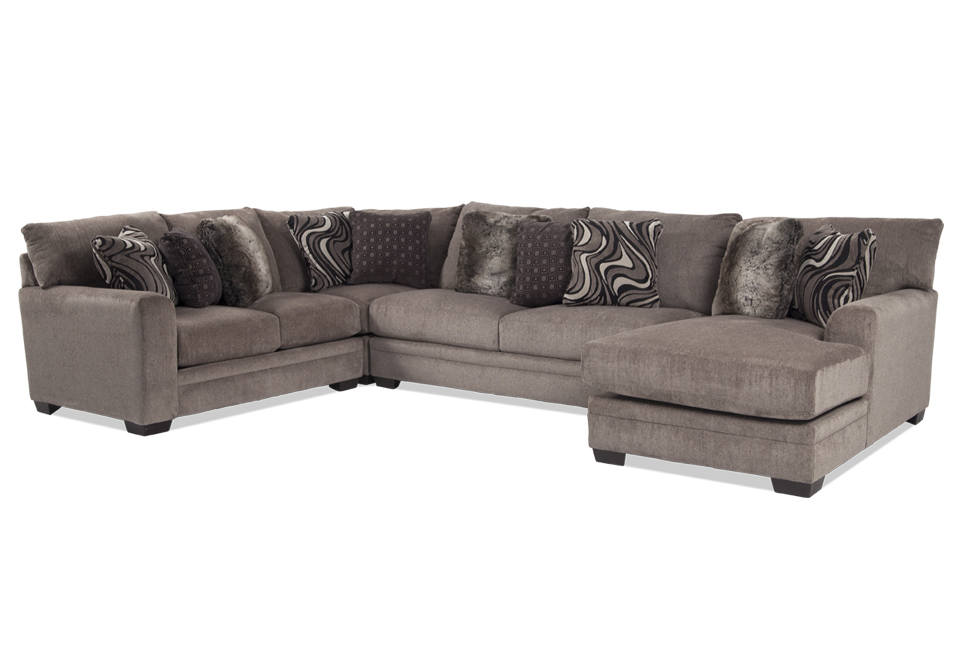 Jackson Luxe 4pc Raf Chaise Sectional 600x420