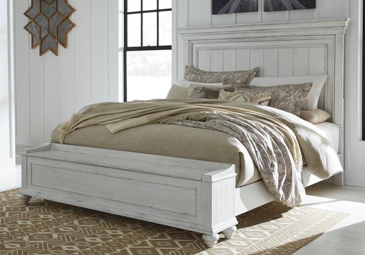 Super Kanwyn Whitewash Queen Panel Storage Bed Inzonedesignstudio Interior Chair Design Inzonedesignstudiocom