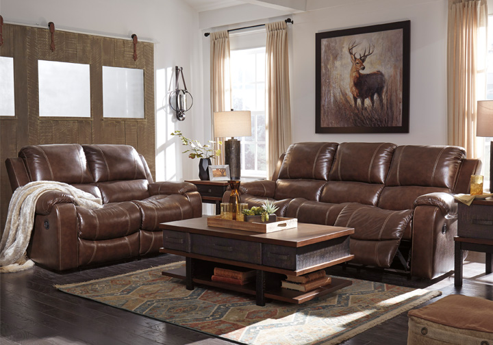 Enjoyable Rackingburg Mahogany Power Reclining Sofa Set Ncnpc Chair Design For Home Ncnpcorg