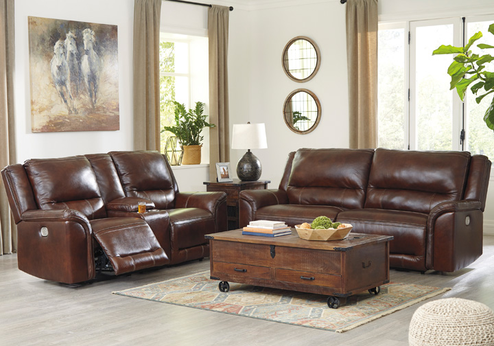 Fabulous Catanzaro Mahogany Power Reclining Sofa Set Gmtry Best Dining Table And Chair Ideas Images Gmtryco