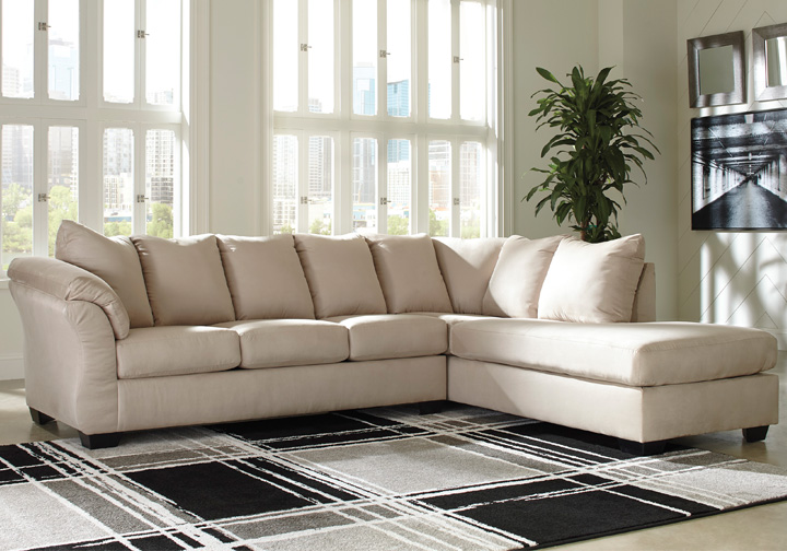 Marvelous Darcy Stone 2Pc Raf Sleeper Sofa Chaise Sectional Short Links Chair Design For Home Short Linksinfo