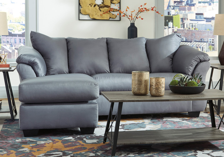 Awesome Darcy Steel Sofa Chaise Inzonedesignstudio Interior Chair Design Inzonedesignstudiocom