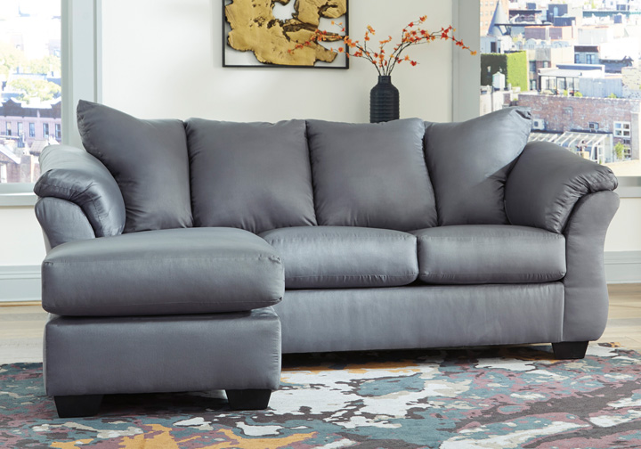 Pleasing Darcy Steel Sofa Chaise Caraccident5 Cool Chair Designs And Ideas Caraccident5Info