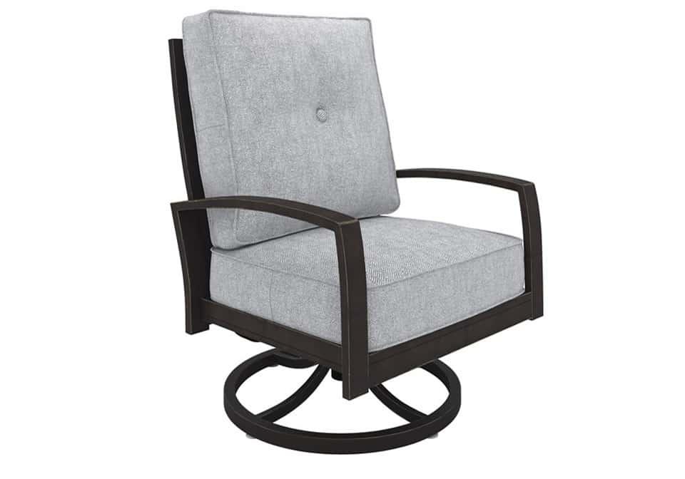 Castle Island Dark Brown Swivel Lounge Chair Evansville