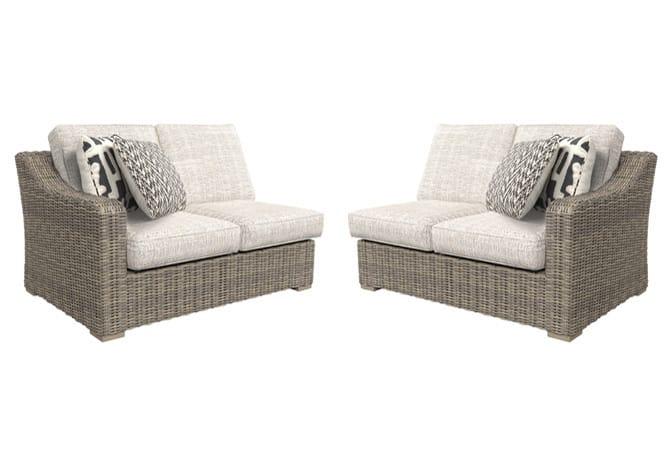 Beachcroft Beige 3Pc Patio Set   Evansville Overstock ... on Beachcroft Beige Outdoor Living Room Set id=64105