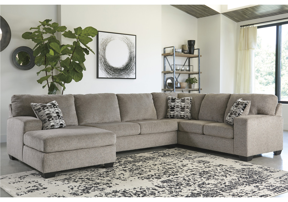 Ballinasloe Platinum 3pc Raf Sofa Sectional Evansville