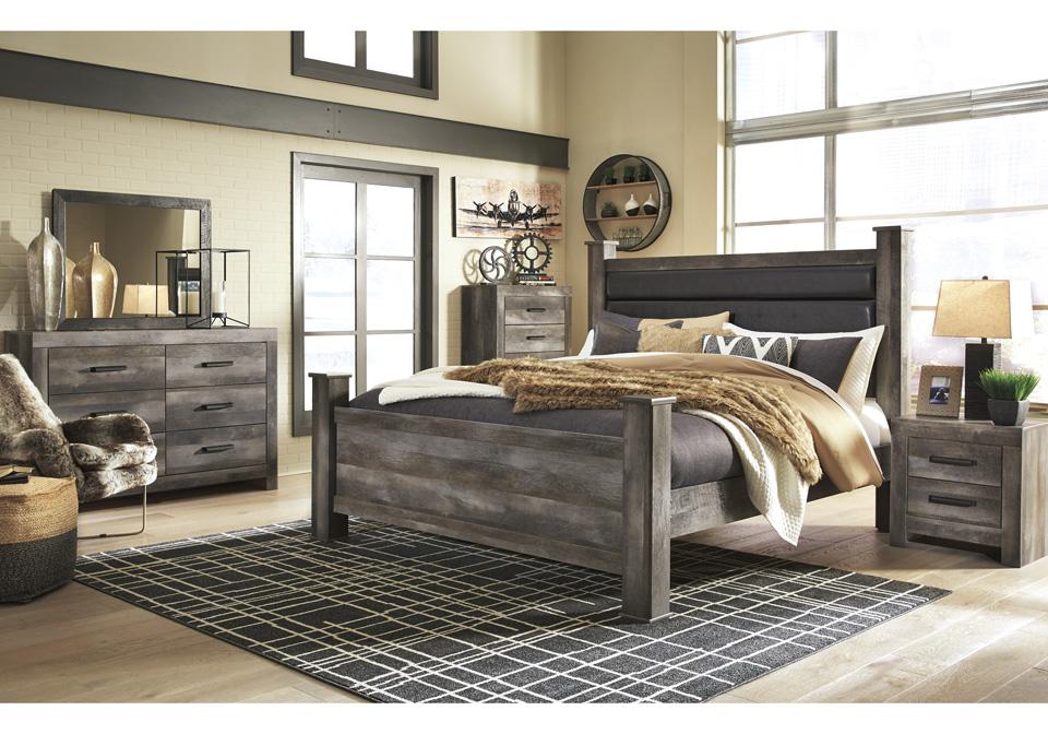 Wynnlow Gray King Poster Bedroom Set