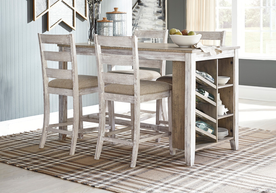 Skempton White Counter Height 5pc, How To Raise A Dining Room Table