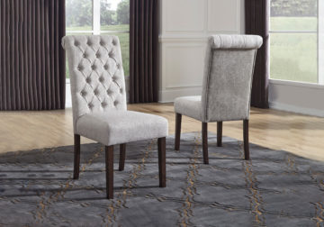 Adinton White Upholstered Dining Chair, White Upholstered Dining Room Chairs